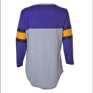 NBA Tops - • LA Lakers 3/4 Sleeve Basketball Tee •